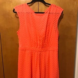 J. Crew orange dress size 12